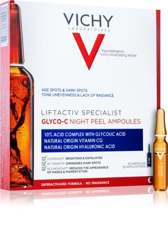 ВИШИ ЛИФТАКТИВ Спешълист Глико-С Нощен пилинг-серум ампули 10бр. х 2мл. | VICHY LIFTACTIV Specialist Glyco-C Night-peel ampoules 10 x 2ml