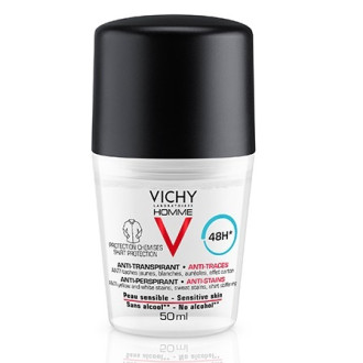 ВИШИ ХОУМ Дезодорант рол-он против петна за мъже с чувствителна кожа 50мл | VICHY HOMME Deodorant anti-perspirant for sensitive skin 50ml