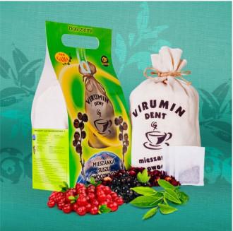 ВИРУМИН-ДЕНТ с червена боровинка, филтърни торбички 30бр x 2.5гр (75гр общо) ПВМ ГАМА | VIRUMIN-DENT with cranberry, filter bags 30s x 2.5g (75g total) PWM GAMA