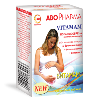 ВИТАМАМ 30 таблетки АБОФАРМА   VITAMAM 30 tabs ABOPHARMA