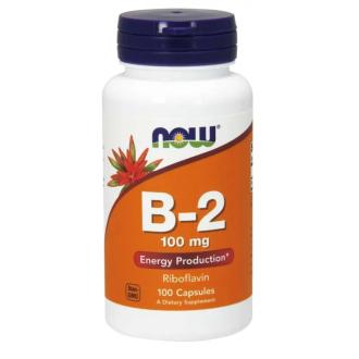 ВИТАМИН Б-2 (РИБОФЛАВИН) 100 мг 100 капс. НАУ ФУУДС | VITAMIN B-2 (ROBOFLAVIN) 100 mg 100 caps. NOW FOODS