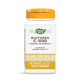 ВИТАМИН Ц 500мг. Буфериран 100бр. капсули НЕЙЧЪР'С УЕЙ | VITAMIN C 500mg Buffered 500s caps NATURE'S WAY