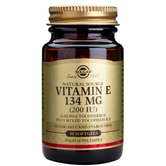 ВИТАМИН Е 200 IU меки капсули 50бр. СОЛГАР | VITAMIN E 200 IU softgels 50s SOLGAR