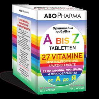 ОТ А ДО Z МУЛТИВИТАМИНИ 60 таблетки АБОФАРМА   FROM A TO Z  60 tabs ABOPHARMA
