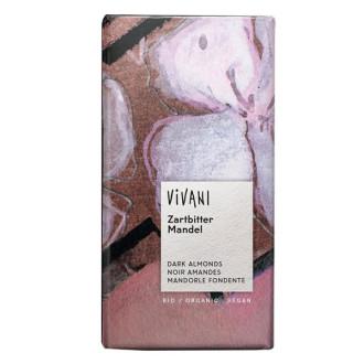БИО Натурален Шоколад с цели Бадеми 100гр ВИВАНИ | BIO Dark Chocolate with whole Almonds 100g VIVANI