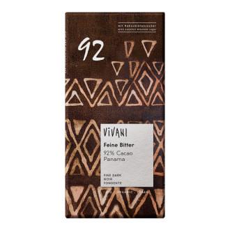 БИО Фин Натурален Шоколад, 92% панамско какао 100гр ВИВАНИ   BIO Fine Dark Chocolate, 92% panama cacao 100g VIVANI