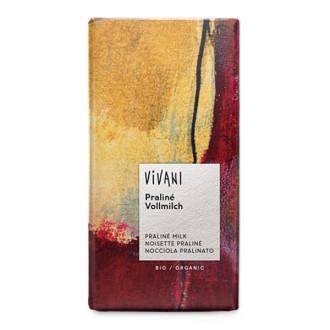 БИО Млечен Шоколад с Нуга крем 100гр ВИВАНИ   BIO Milky Chocolate with Nougat cream 100g VIVANI