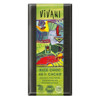 БИО Шоколад с Оризово мляко (веган) 100гр ВИВАНИ   BIO Chocolate with Rice milk (vegan) 100g VIVANI