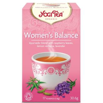 "ЙОГИ ОРГАНИК БИО Аюрведичен чай ""Женски баланс"", пакетчета 17бр | YOGI ORGANIC BIO Ayurvedic tea blend ""Women's balance"" teabags 17s"
