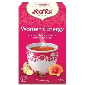 "ЙОГИ ОРГАНИК БИО Аюрведичен чай ""Женска енергия"", пакетчета 17бр | YOGI ORGANIC BIO Ayurvedic tea blend ""Woman's energy"" teabags 17s"
