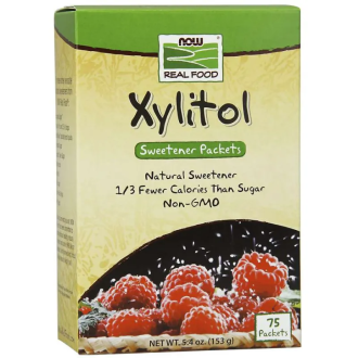 КСИЛИТОЛ пакетчета 75 бр. НАУ ФУУДС | XYLITOL packets 75s NOW FOODS