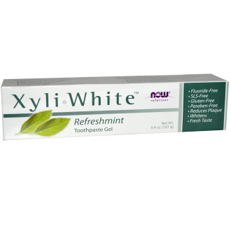 НАУ ФУУДС КСИЛИУАЙТ™ МЕНТА паста за зъби 200г | NOW FOODS XYLIWHITE™ MINT toothpaste 200g