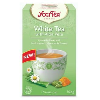 "ЙОГИ ОРГАНИК БИО Аюрведичен чай ""Бял чай с Алое Вера"", пакетчета 17бр | YOGI ORGANIC BIO Ayurvedic tea blend ""White thea with Aloe Vera"" teabags 17s"