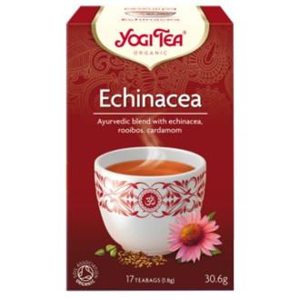 "ЙОГИ ОРГАНИК БИО Аюрведичен чай ""Ехинацея"", пакетчета 17бр | YOGI ORGANIC BIO Ayurvedic tea blend ""Echinacea"" teabags 17s"
