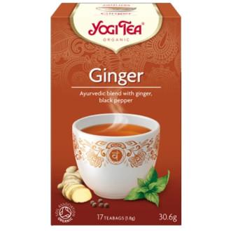 "ЙОГИ ОРГАНИК БИО Аюрведичен чай ""Джинджифил"", пакетчета 17бр | YOGI ORGANIC BIO Ayurvedic tea blend ""Ginger"" teabags 17s"
