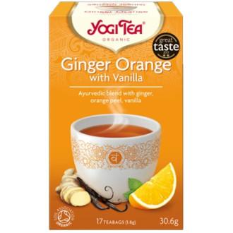 "ЙОГИ ОРГАНИК БИО Аюрведичен чай ""Джинджифил и портокал с ванилия"", пакетчета 17бр | YOGI ORGANIC BIO Ayurvedic tea blend ""Ginger oragne with vanilla"" teabags 17s"