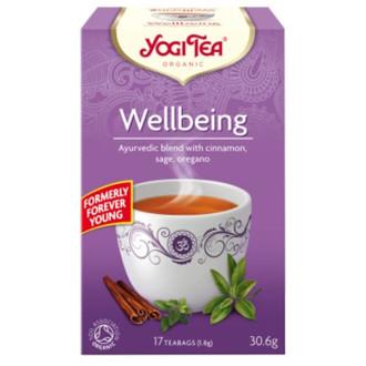 "ЙОГИ ОРГАНИК БИО Аюрведичен чай ""Вечна младост"", пакетчета 17бр | YOGI ORGANIC BIO Ayurvedic tea blend ""Wellbeing"" teabags 17s"