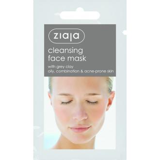 ЖАЯ Почистваща маска за лице със Сива глина 7мл саше | ZIAJA Cleansing Grey clay face mask 7ml