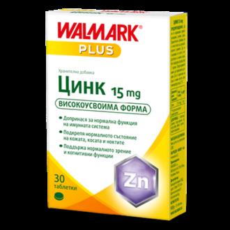 ЦИНК 15мг 30 таблетки ВАЛМАРК | ZINC 15mg 30s WALMARK
