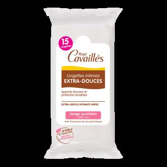 РОЖЕ КАВАЙЕ Изключително нежни интимни кърпички 15бр | ROGE CAVAILLES gentle intimate wipes EXTRA DOUX 15s