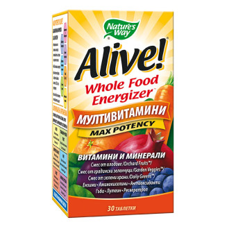 АЛАЙВ Мултивитамини 30 табл. НЕЙЧЪР'С УЕЙ | ALIVE Multivitamins Max Potency 30 tabs NATURE'S WAY