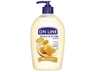 ОН ЛАЙН Течен сапун Мляко и Мед 500мл | ON LINE Liquid soap Milk and Honey 500ml