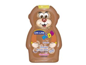 ОН ЛАЙН Детски шампоан и душ гел с аромат на Шоколад 250мл | ON LINE Children's shampoo and shower gel whit Chocolate flavor 250ml