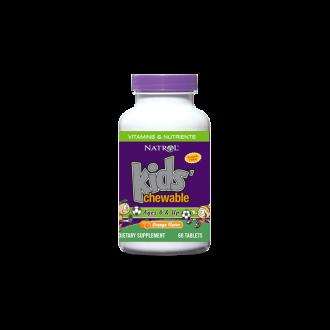 МУЛТИВИТАМИНИ ЗА ДЕЦА 60бр. дъвчащи таблетки НАТРОЛ | VITAMINS AND NUTRIENTS KIDS 60s chewable tabs NATROL