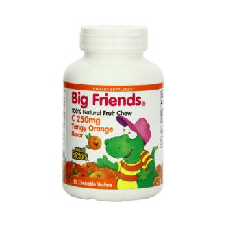 ВИТАМИН С 250мг БИГ ФРЕНДС (портокал) дъвчащи таблетки 90 бр. НАТУРАЛ ФАКТОРС   VITAMIN C 250mg BIG FRIENDS chewable tabs 90s NATURAL FACTORS