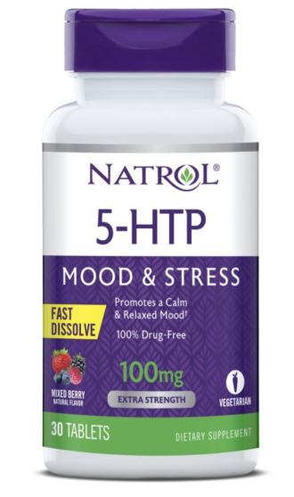 5-ХТФ 100 мг - бързо разтворим 30 табл. НАТРОЛ | 5-HTP 100mg - Fast Dissolve 30 tabs NATROL