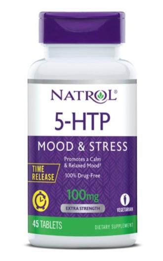 5-ХТФ 100 мг - забавено освобождаване 45 табл. НАТРОЛ   5-HTP 100mg - Time Release 45 tabs NATROL