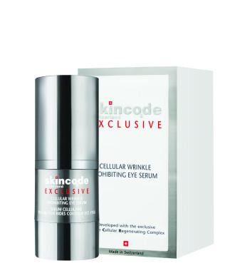 "СКИНКОД ЕКСКЛУЗИВ Клетъчен серум за очи ""Стоп на бръчките"" 15мл | SKINCODE EXCLUSIVE Cellular wrinkle prohibiting eye serum 15ml"