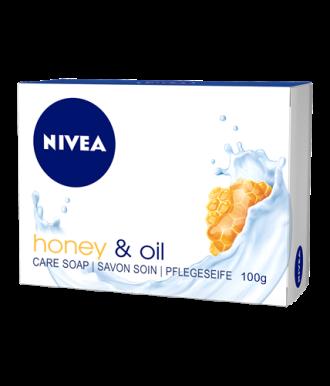 НИВЕА МЕД & МАСЛА Крем сапун с мед и жожоба 100гр | NIVEA HONEY & OIL Creme soap 100g