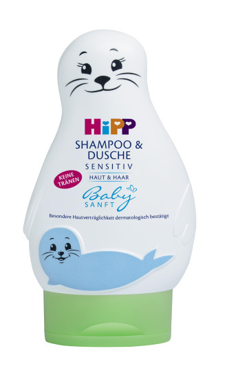 ХИП БЕЙБИЗАНФТ Шампоан за коса и тяло Тюленче 200мл | HIPP BABYSANFT Hair and body shampoo Seal 200ml