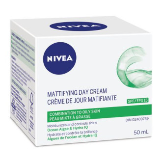 НИВЕА Дневен крем за мазна кожа SPF15 50мл | NIVEA Day care mattifying SPF15 50ml