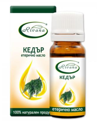 РИВАНА Етерично масло от КЕДЪР 10мл | RIVANA JUNIPERUS VIRGINIANA Essential oil 10ml