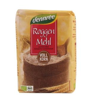 БИО Пълнозърнесто брашно от Ръж 1кг ДАНРЕ | BIO Rye wholemeal flour 1kg DENNREE