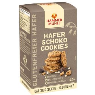 Овесени курабийки с Шоколад, без глутен 125гр ХАМЕРМИЛ | Oatmeal cookies with Chocolate, gluten-free 125g HAMMERMÜHLE
