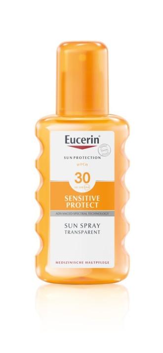 ЮСЕРИН СЪН СЕНЗИТИВ ПРОТЕКТ Прозрачен слънцезащитен спрей SPF30 200мл | EUCERIN SUN SENSITIVE PROTECT Spray transparent SPF30 200ml