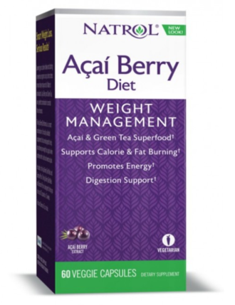АКАЙ БЕРИ диета 500мг 60 капс. НАТРОЛ | ACAI BERRY Diet 500mg 60 caps NATROL