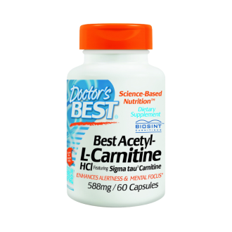 АЦЕТИЛ-Л-КАРНИТИН HCl 588мг 60капс. ДОКТОРС БЕСТ | ACETYL-L-CARNITINE 588mg 60caps DOCTOR'S BEST