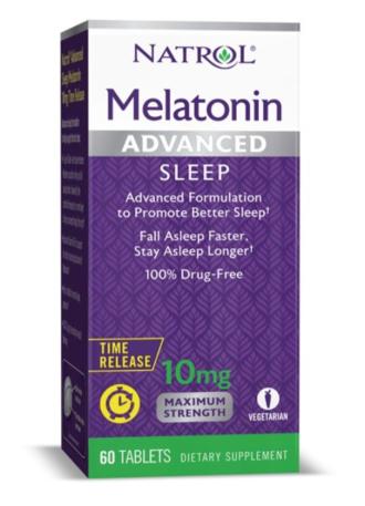 АДВАНСТ СЛИЙП МЕЛАТОНИН 10мг 60 таблетки - контролирано свобождаване НАТРОЛ | ADVANCED SLEEP MELATONIN 10mg 60 tabs Controled Release NATROL