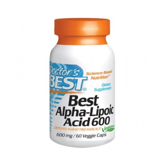 АЛФА-ЛИПОЕВА КИСЕЛИНА 600мг. 60 веган капс. ДОКТОРС БЕСТ | ALPHA-LIPOIC ACID 600mg 60 veggie caps DOCTOR'S BEST