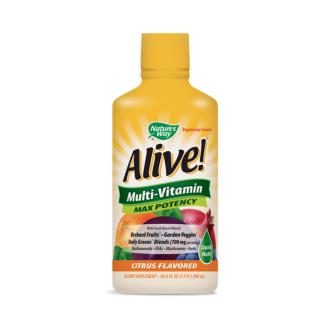 АЛАЙВ Течен мултивитамин 900мл НЕЙЧЪР'С УЕЙ | ALIVE Liquid vitamins & minerals 900ml NATURE'S WAY