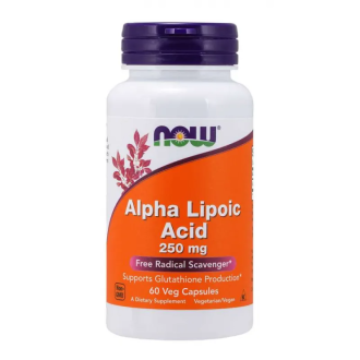 АЛФА ЛИПОЕВА КИСЕЛИНА 250мг капсули 60 бр. НАУ ФУУДС | ALPHA LIPOIC ACID 250mg caps 60s NOW FOODS