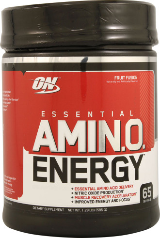 АМИНО ЕНЕРДЖИ – ФРУТ ФЮЖЪН прах 590г ОПТИМУМ НУТРИШЪН | AMINO ENERGY – FRUIT FUSION pwd 590g OPTIMUM NUTRITION