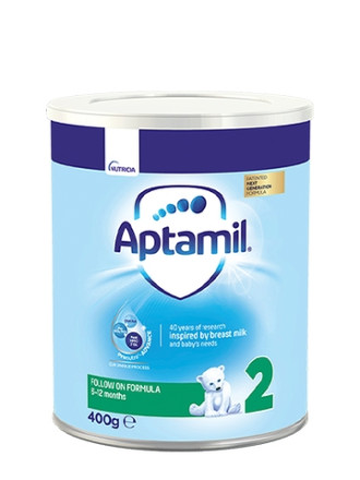 АПТАМИЛ 2 с Pronutra+ Преходно мляко 6-12 м. 400гр. | APTAMIL 2 with Pronutra+ Follow on milk formula 6-12 m 400g