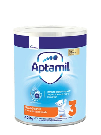 АПТАМИЛ 3 с Pronutra+ Преходно мляко 12+ м. 400гр. | APTAMIL 3 with Pronutra+ Growing up milk formula 12+ 400g