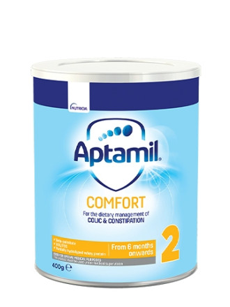 АПТАМИЛ 2 Комфорт с Pronutra+ Преходно мляко 6-12 м. 400гр. | APTAMIL 2 Comfort with Pronutra+ Follow on milk formula 6-12 m 400g