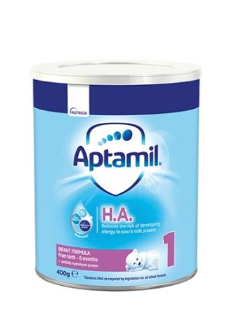 АПТАМИЛ 1 с Pronutra+ Хипо-алергенно (НА) Мляко за кърмачета 0-6 м. 400гр. | APTAMIL 1 with Pronutra+ Hypo-allergenic (HA) Infant formula 0-6 m 400g